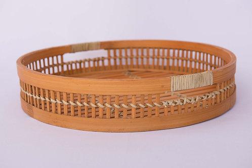 Bandeja Bambu Redonda