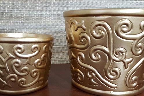 Cachepot Arabesco Gold - Ver descrição