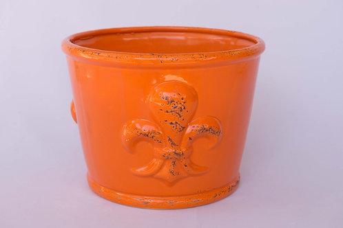 Cachepot Flor de Lis Laranja