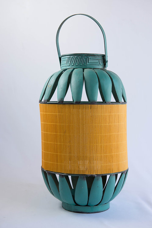 Lanterna étnica turquesa I