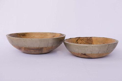 Bowl Madeira Borda Gold - Verificar descrição
