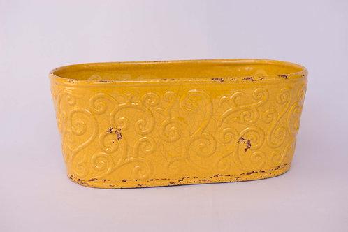 Floreira Arabesco Amarela