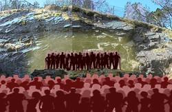 publikum i krateret kopi