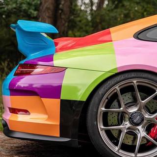 Car wrapping Porsche gt3 911