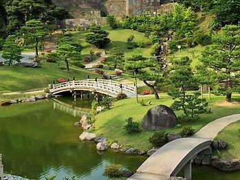 Japanese garden in Kanazawa, closed to MACHI Japanese Academy