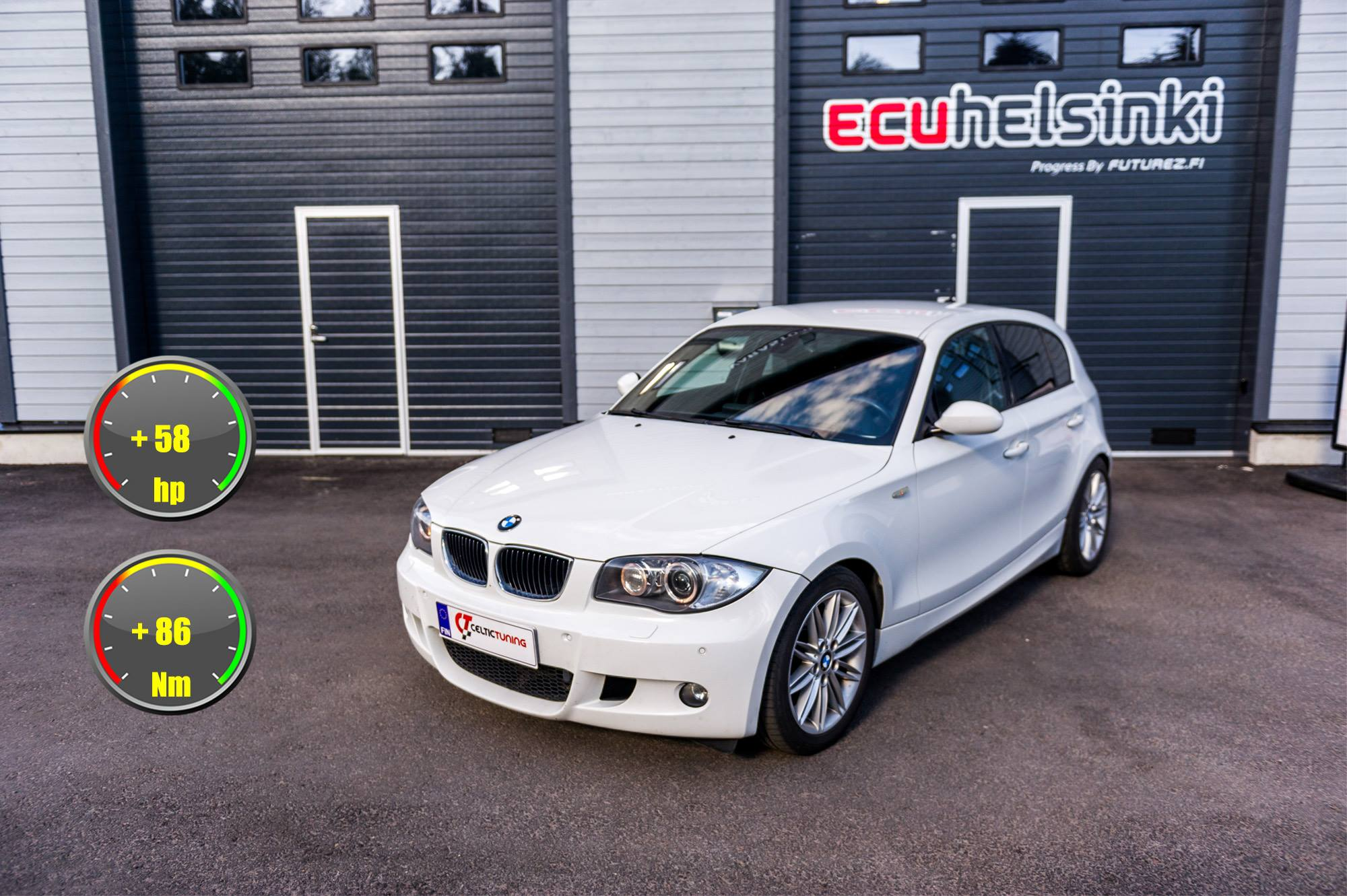 BMW 118D lastutus celtic tuning