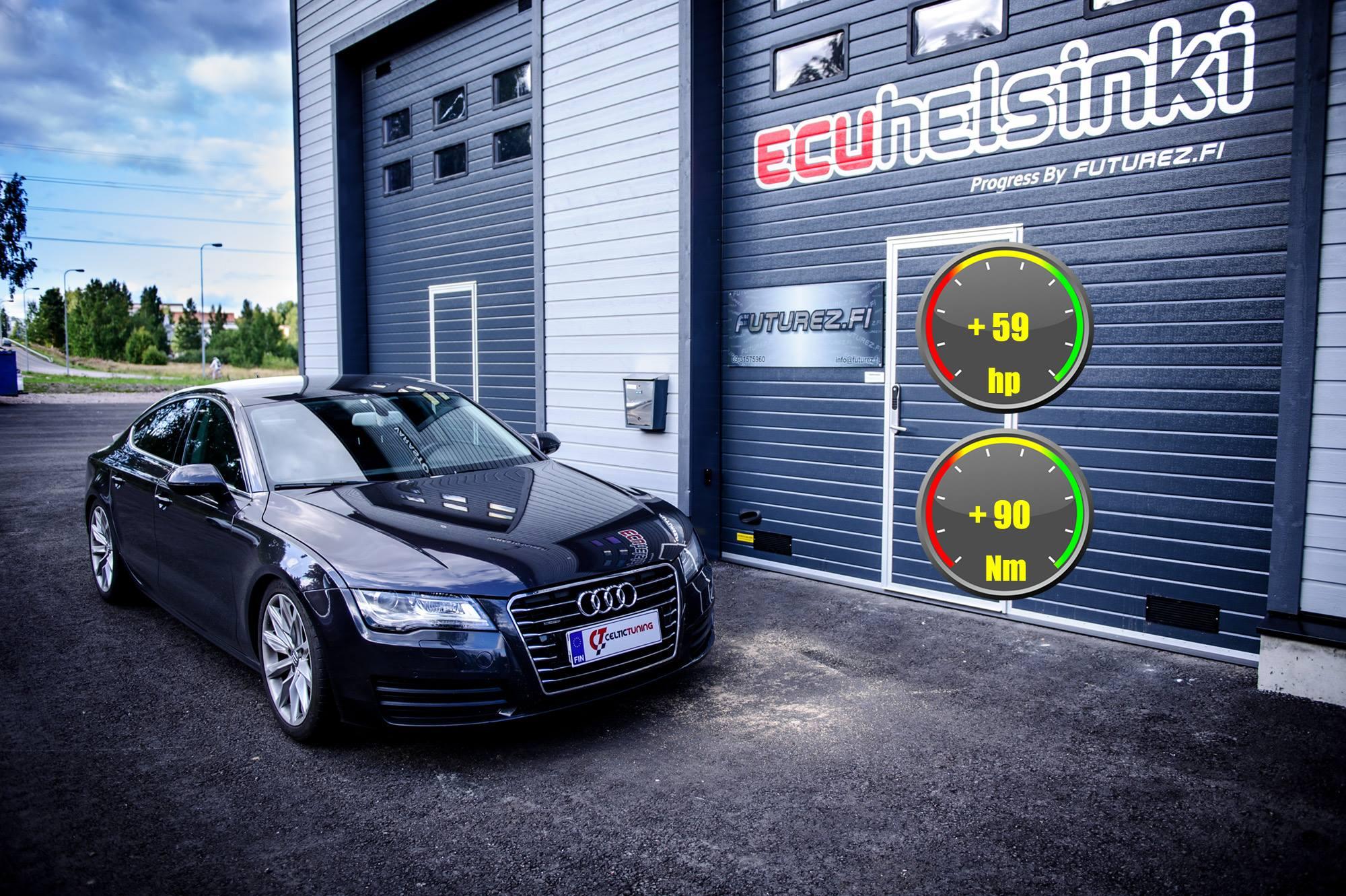 Audi A7 3.0TDi optimointi