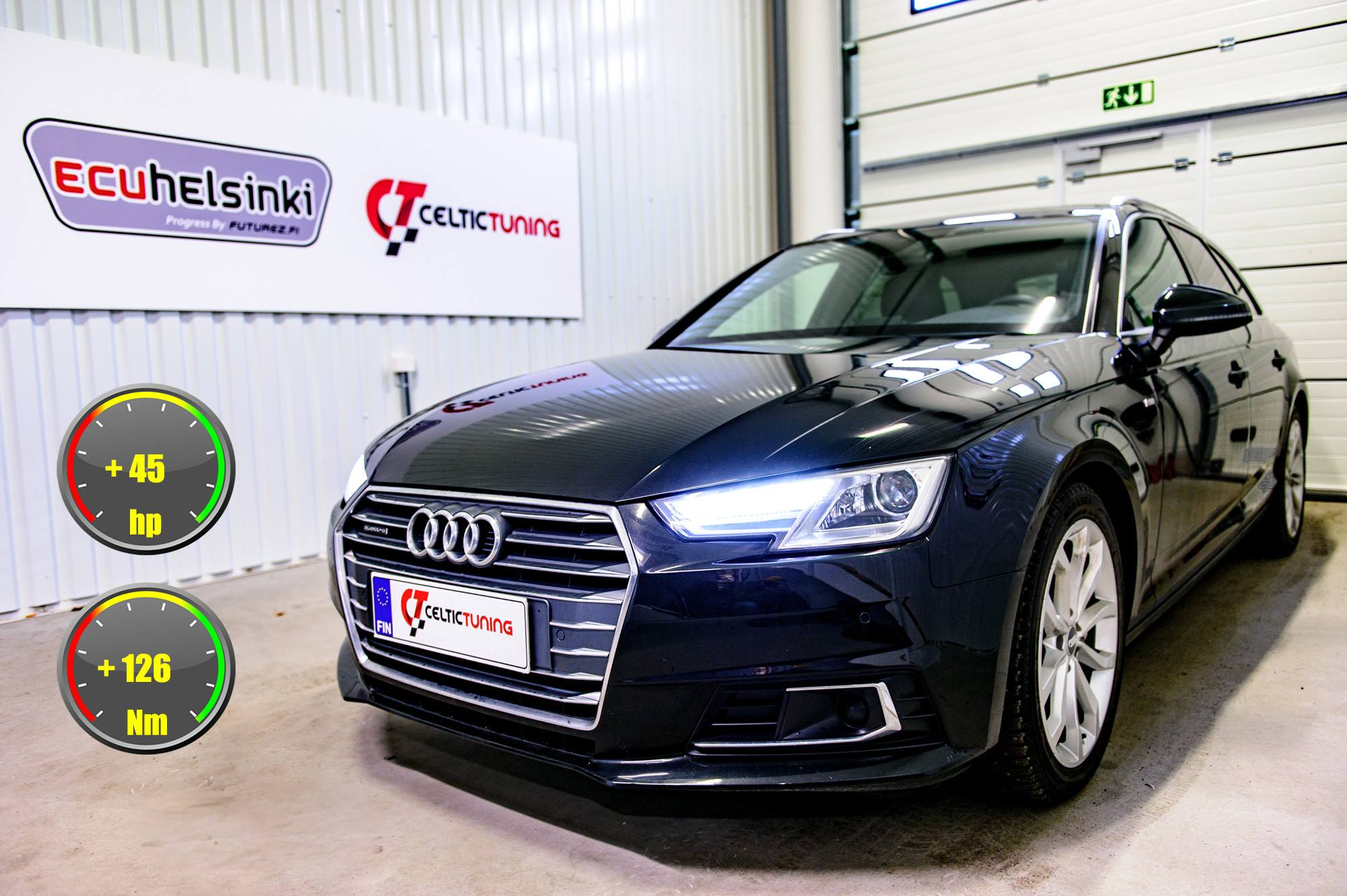 Audi A4 2.0 TDI optimointi celtic