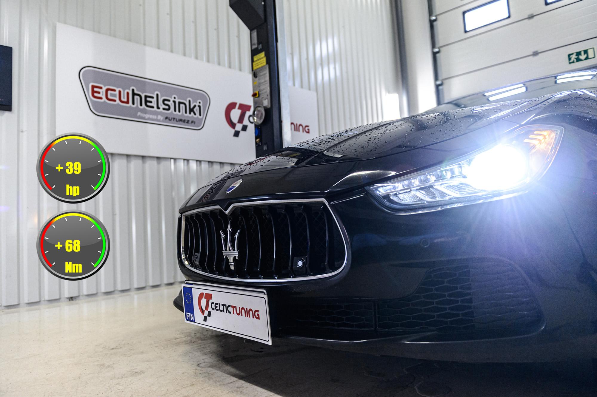 Maserati Ghibli ohjelmointi celtic tuning