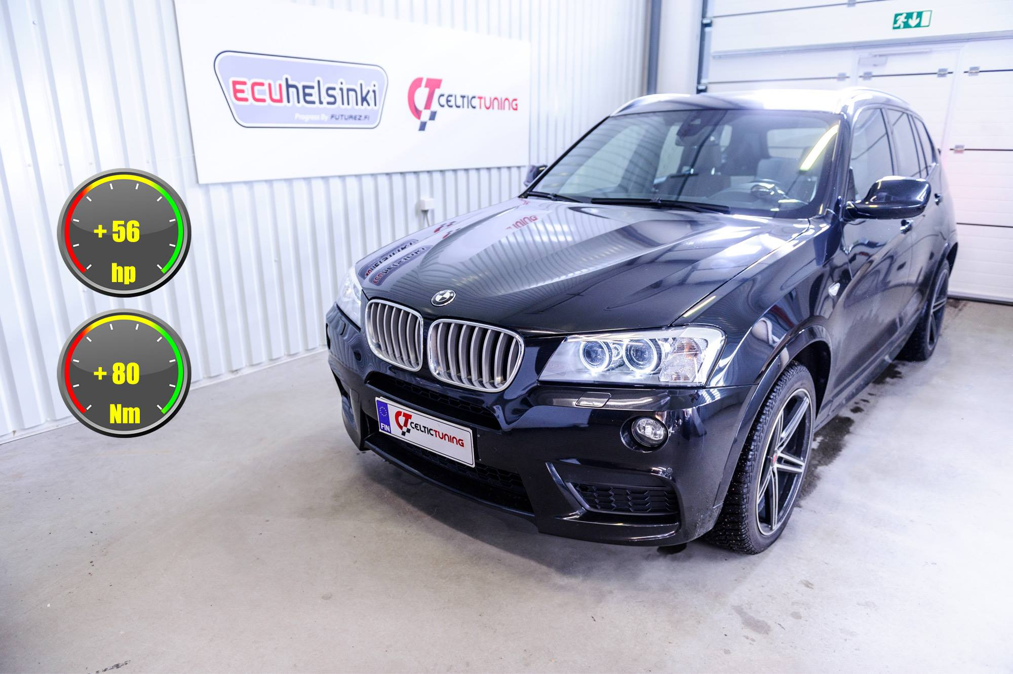BMW X3 30D lastutus celtic tuning