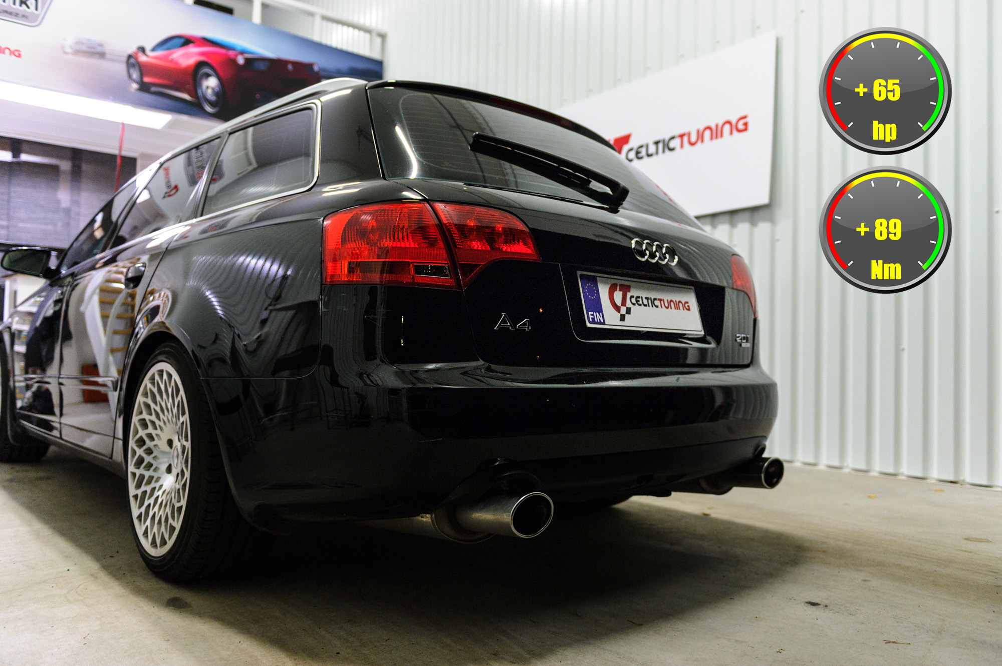 Audi A4 HFC optimointi
