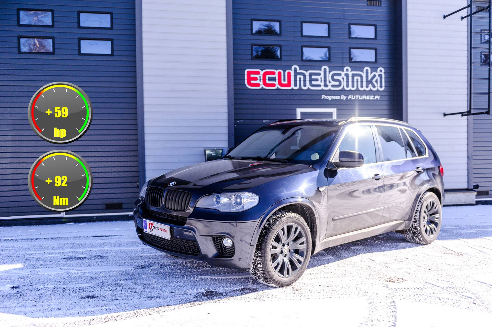 BMW X5 40D lastutus celtic tuning