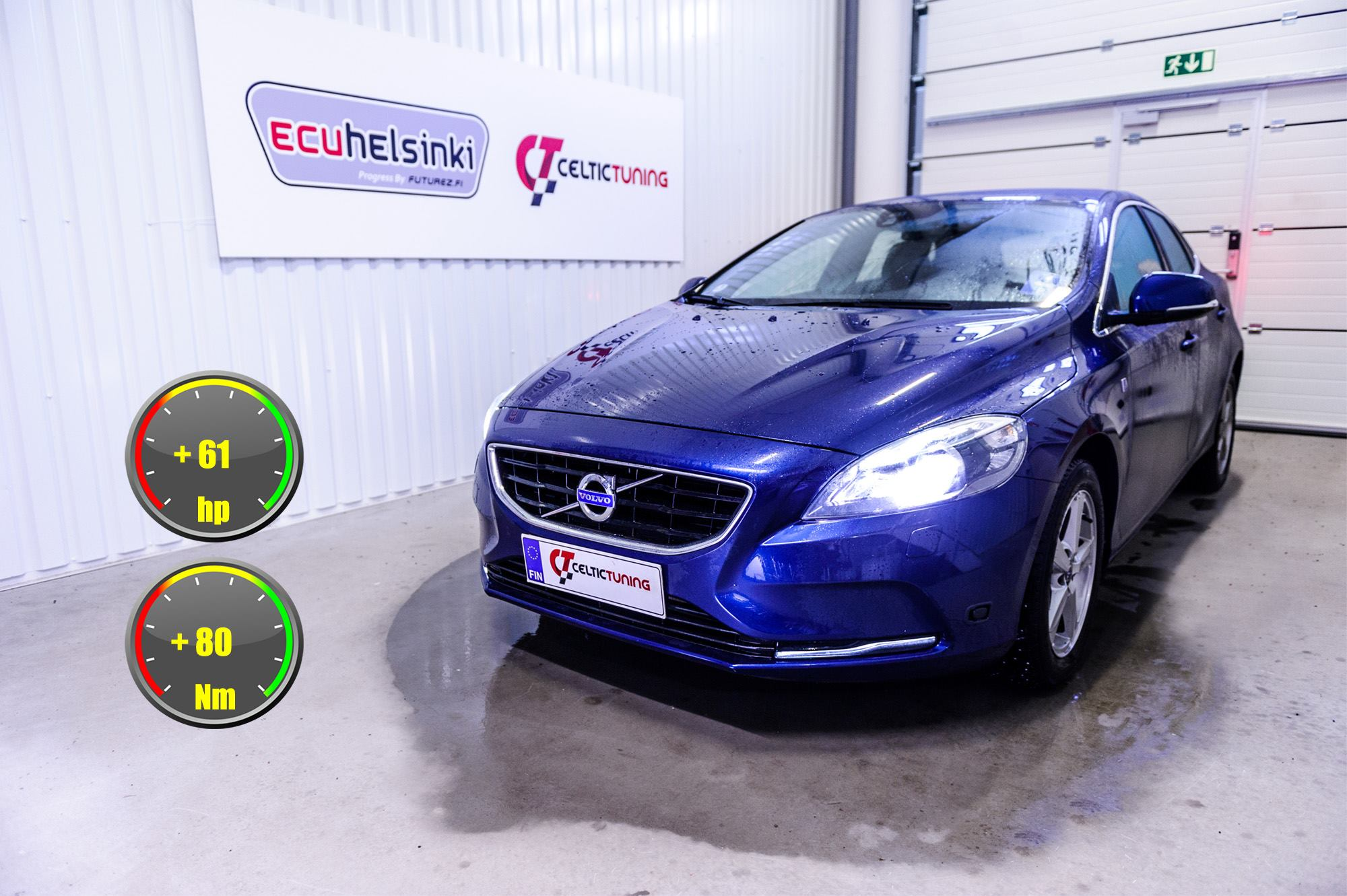 Volvo V40 T3 optimointi celtic tunin
