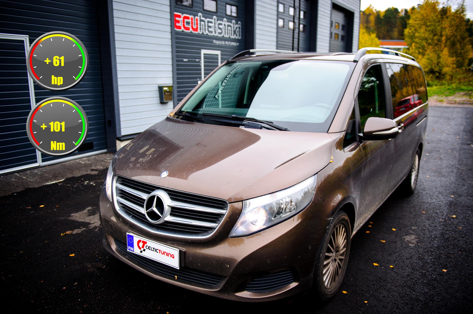 Mercedes v-class optimointi celtic