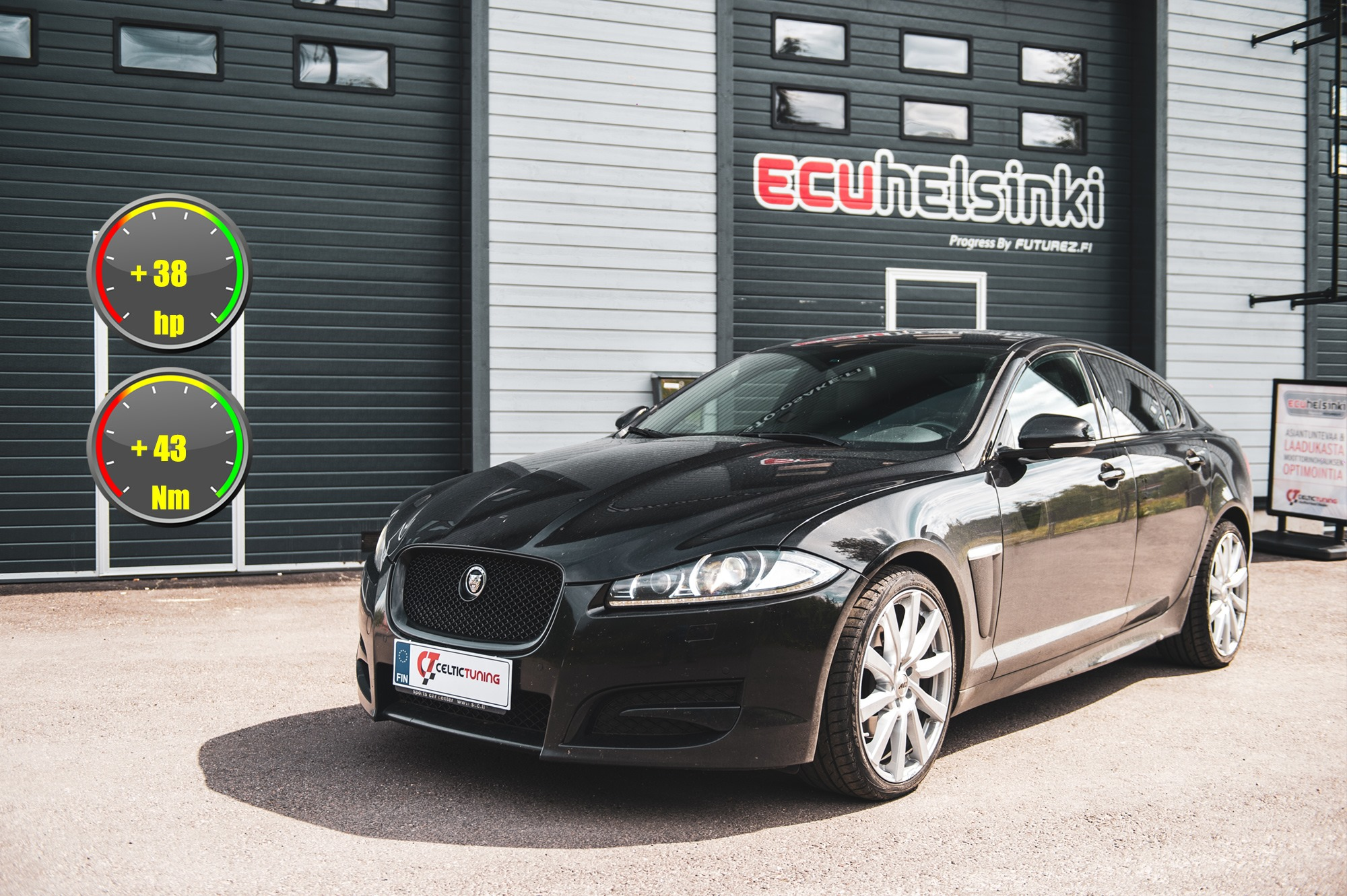 Jaguar XF lastutus celtic tuning