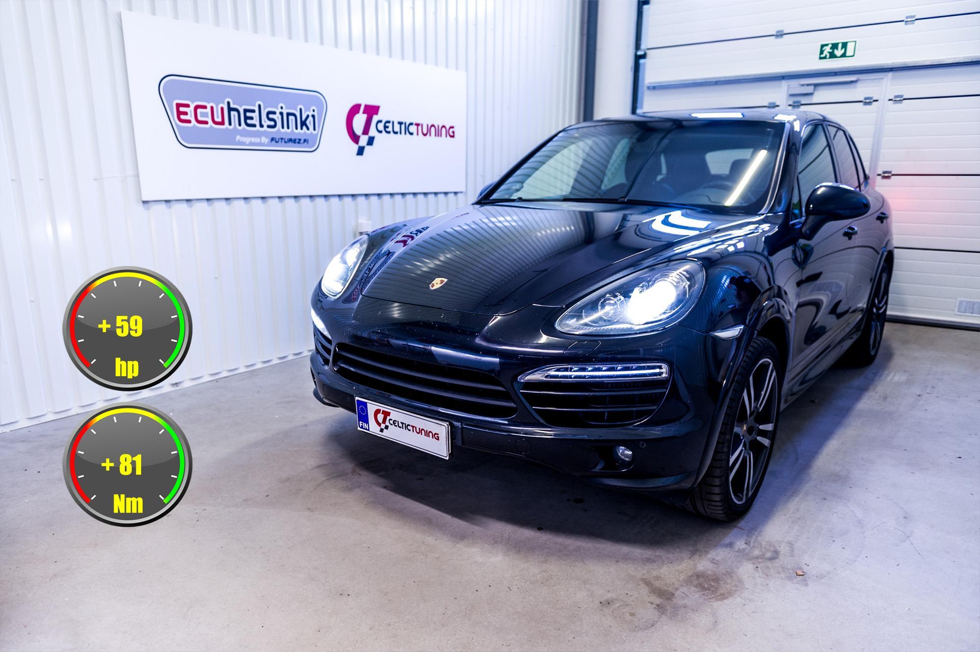 Porsche Cayenne lastutus celtic tuni