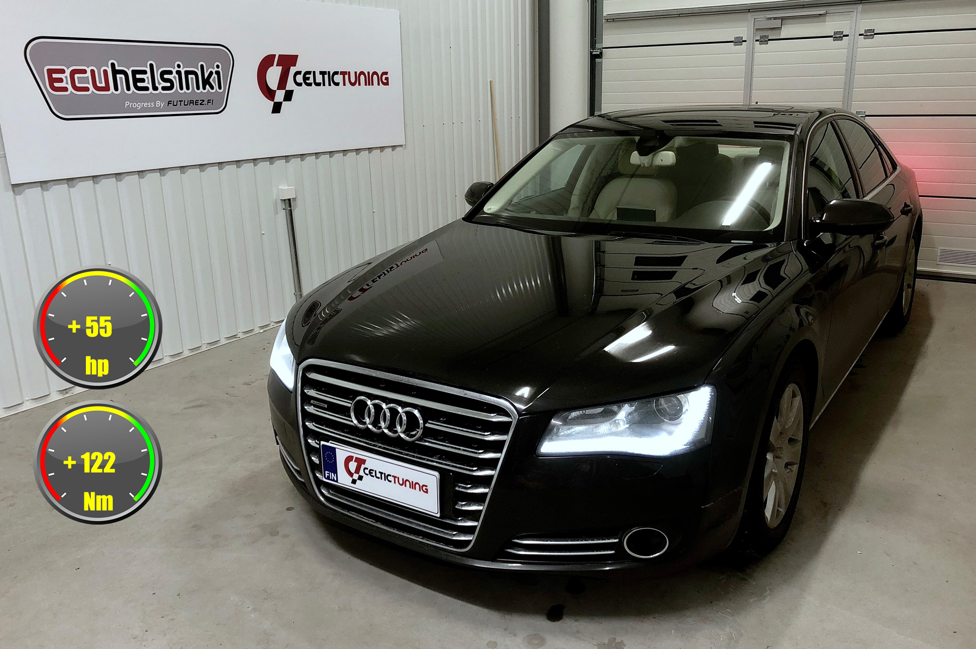 Audi A8 V8 optimointi celtic tuning