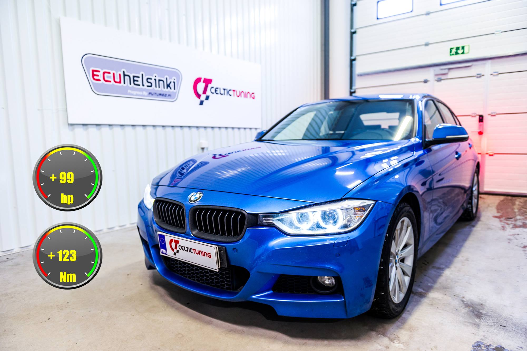 BMW 320i optimointi celtic tuning