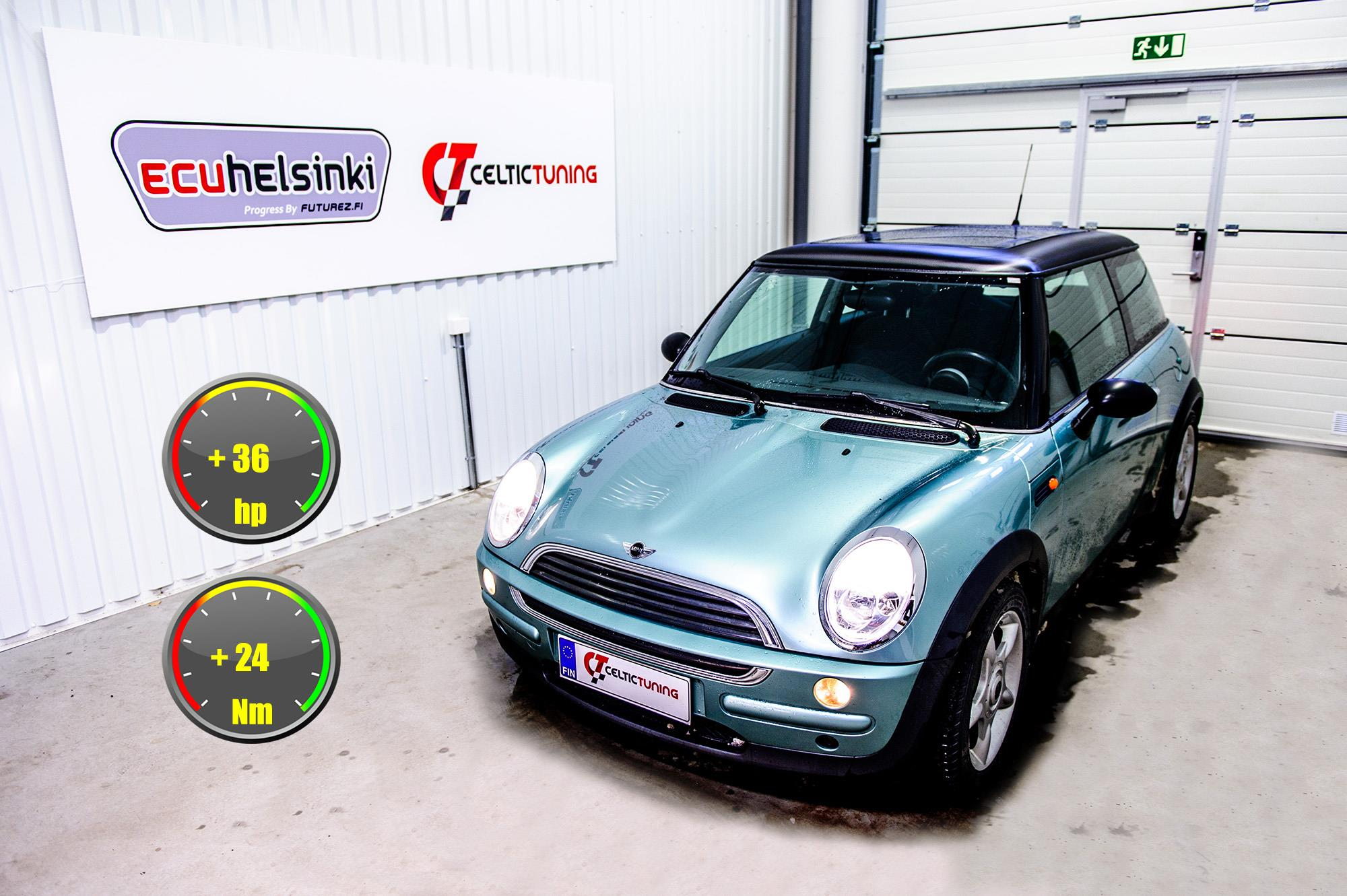 Mini one 1.6 optimointi celtic