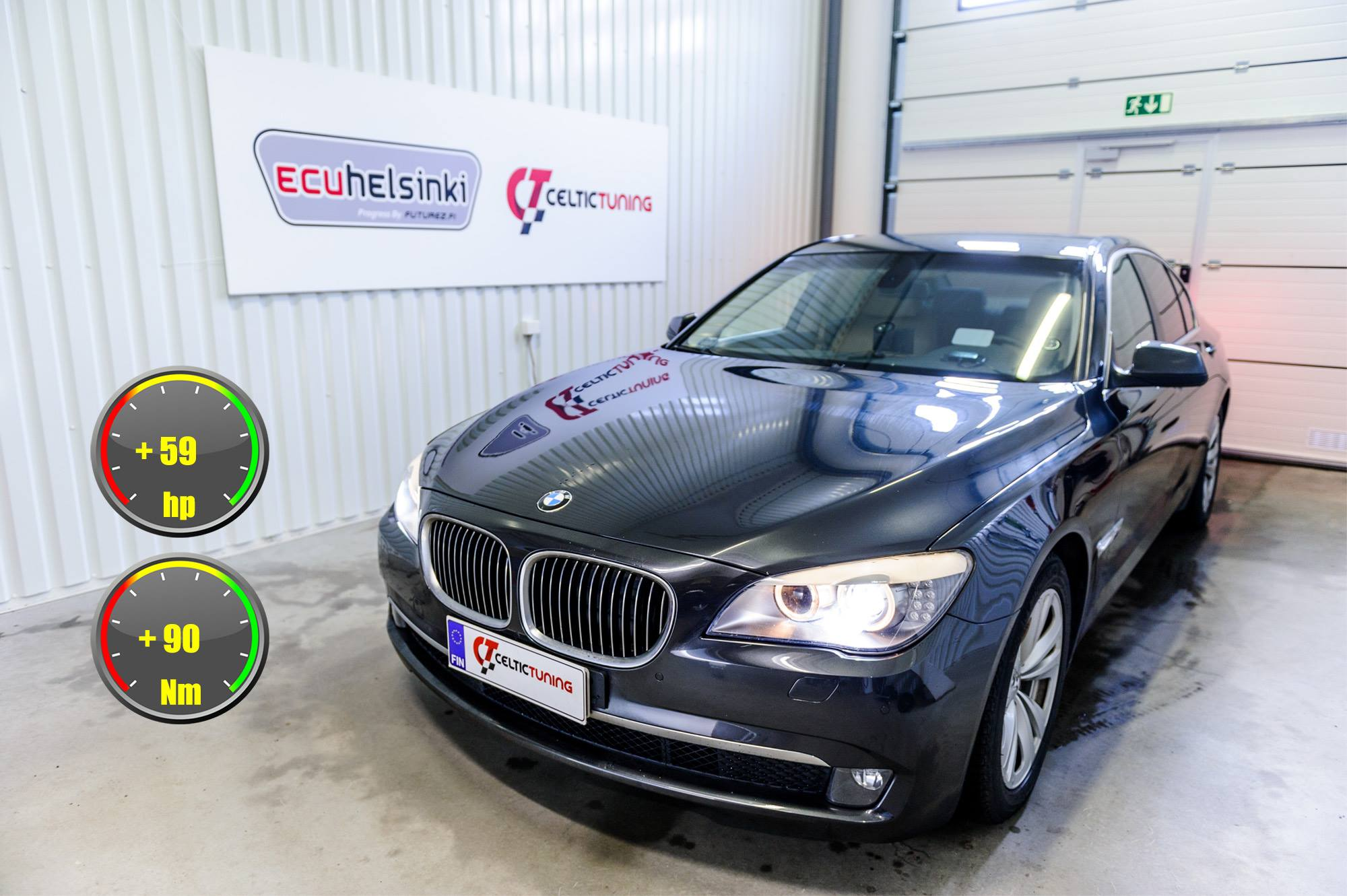 BMW 740D optimointi celtic tuning