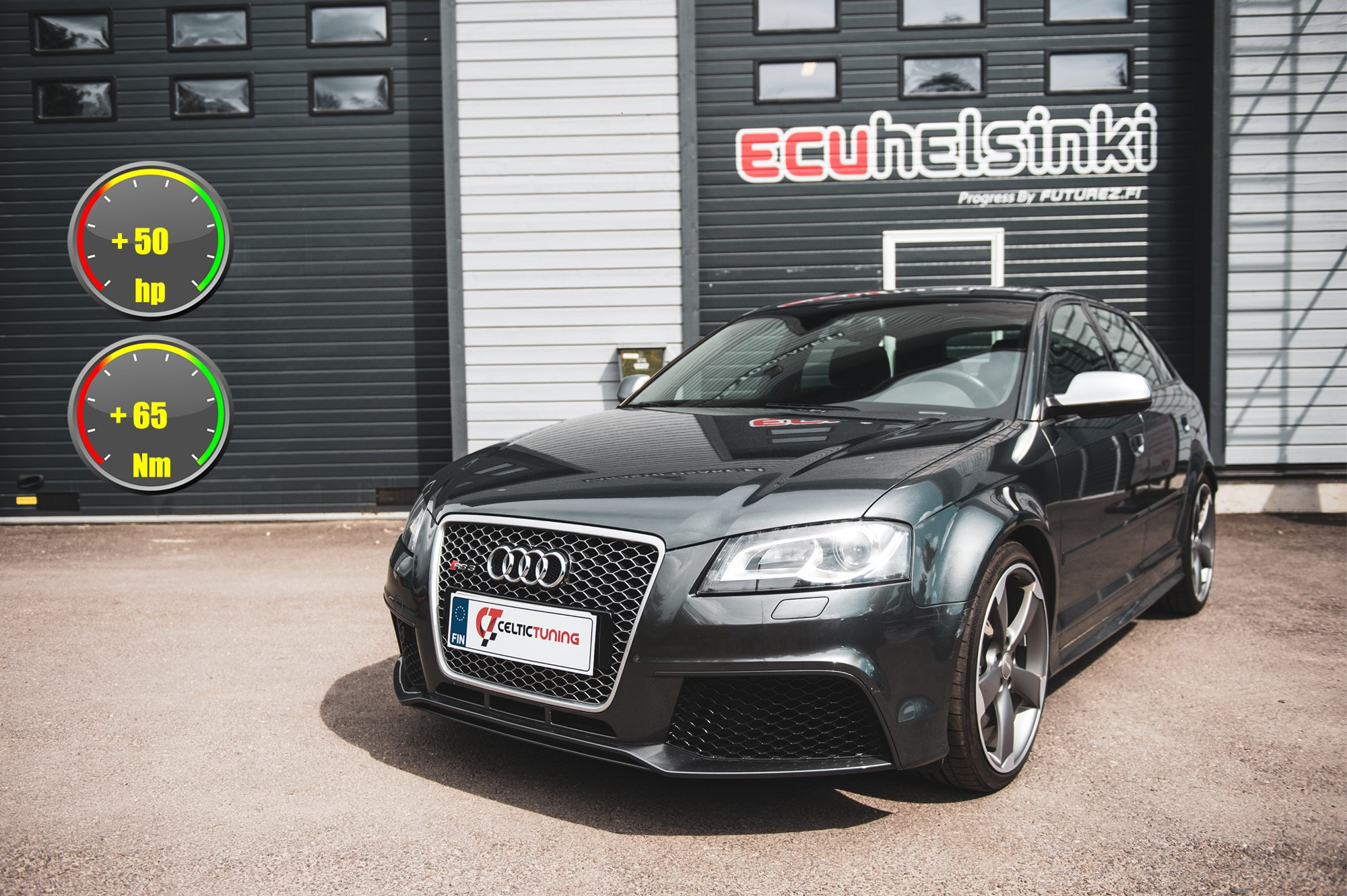 Audi RS3 celtic tuning lastutus