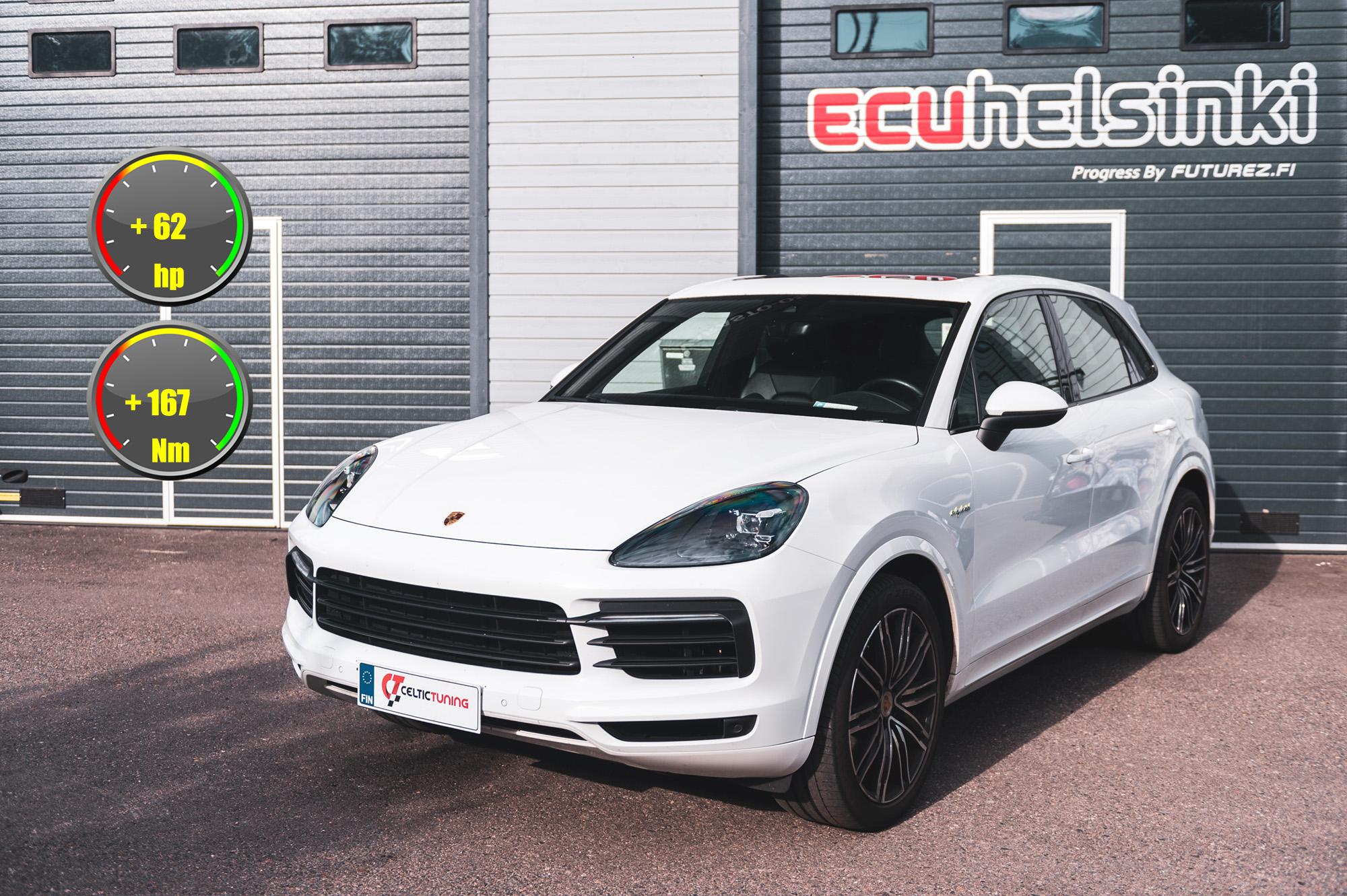 Porsche Cayenne hybrid ohjelmointi celtic tuning