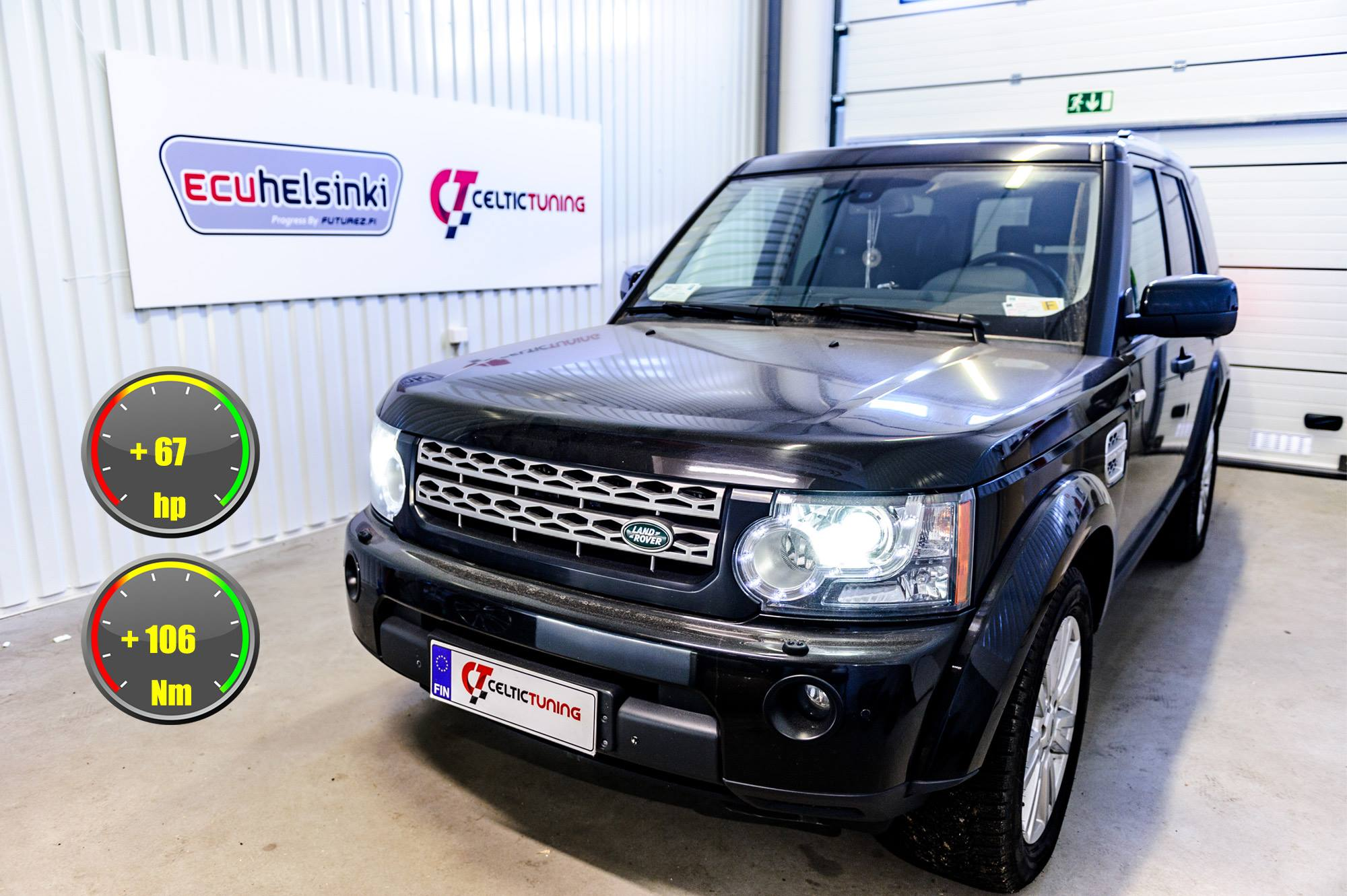 Land rover discovery optimointi celt