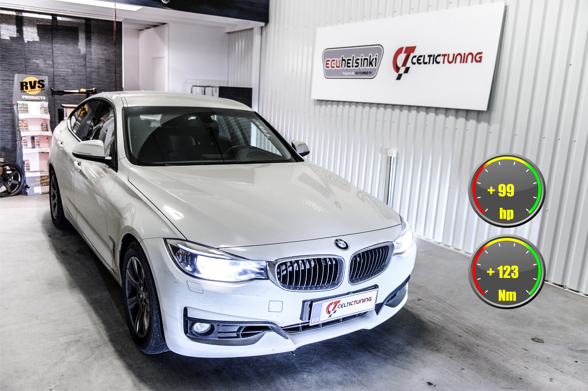 BMW 320i GT optimointi celtic tuning