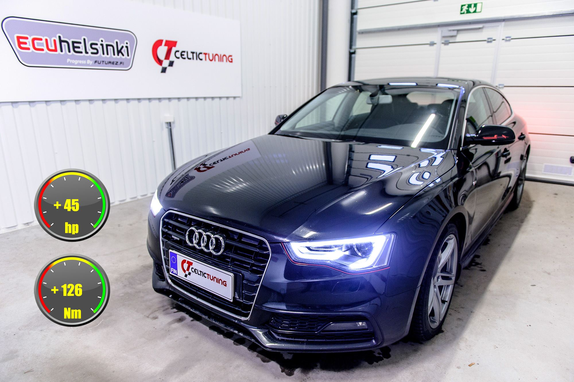 Audi A5 3.0 TDI optimointi celtic