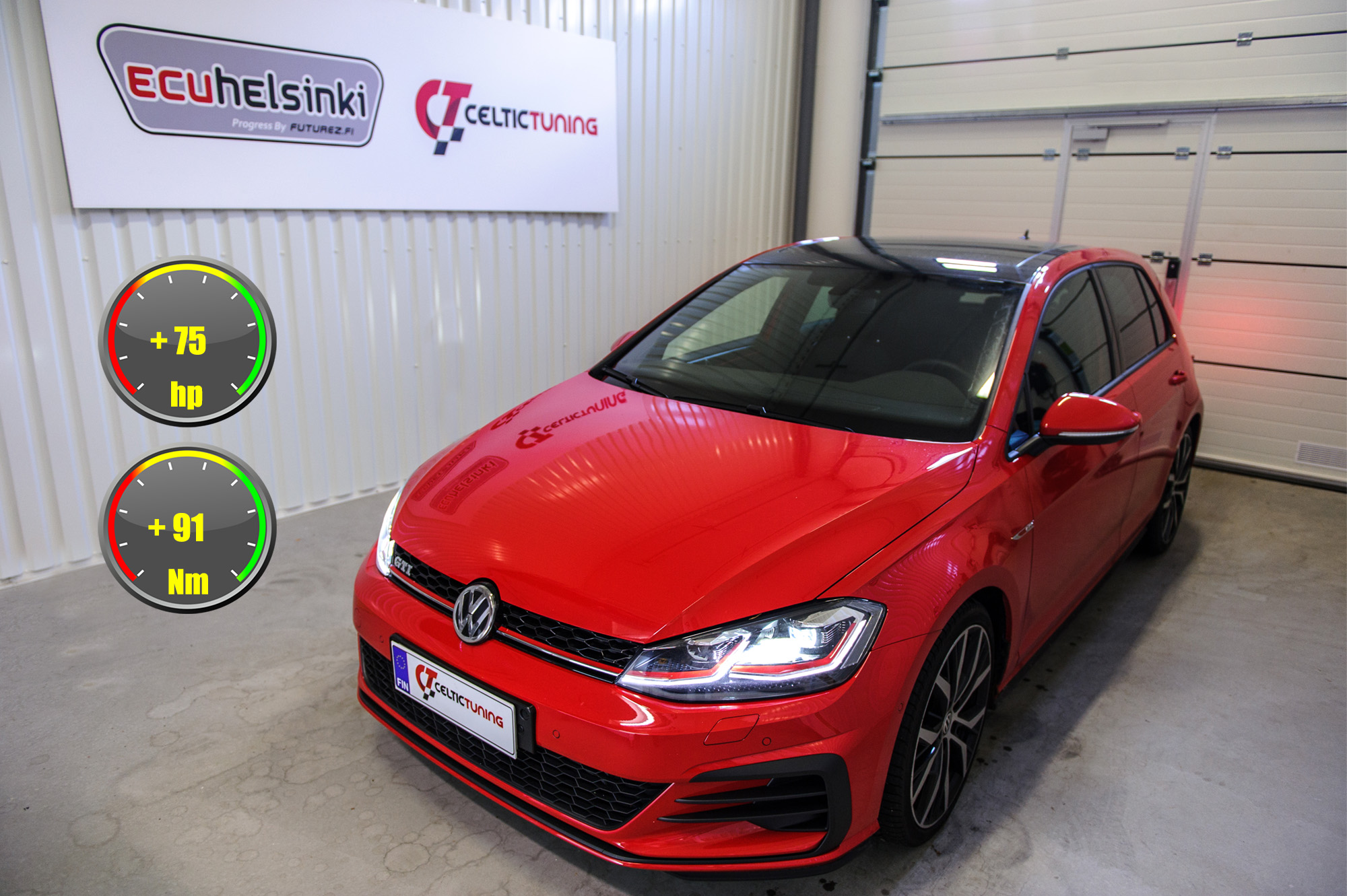 VW golf GTI optimointi celtic