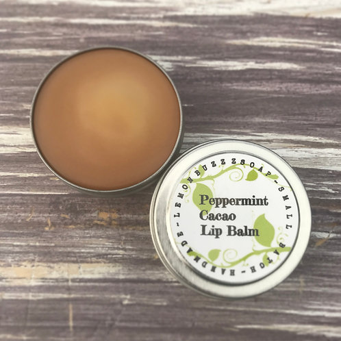 Peppermint+Cacao Lip Balm