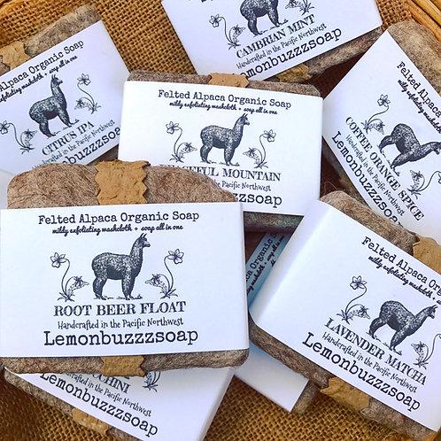 Felted Alpaca Organic Soap