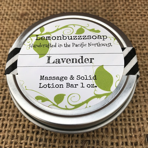 Lavender Massage And Solid Lotion Bar