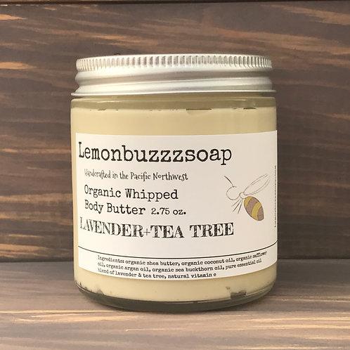 Lavender+Tea Tree Organic Whipped Body Butter
