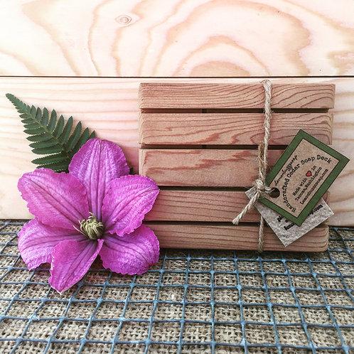 Handcrafted Cedar Soap Deck