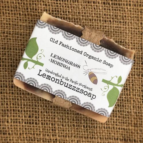 Lemongrass+Moringa Organic Soap