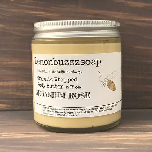 Geranium Rose Organic Whipped Body Butter
