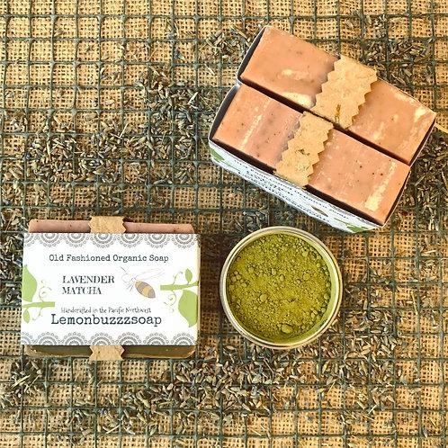 Lavender Matcha Organic Soap