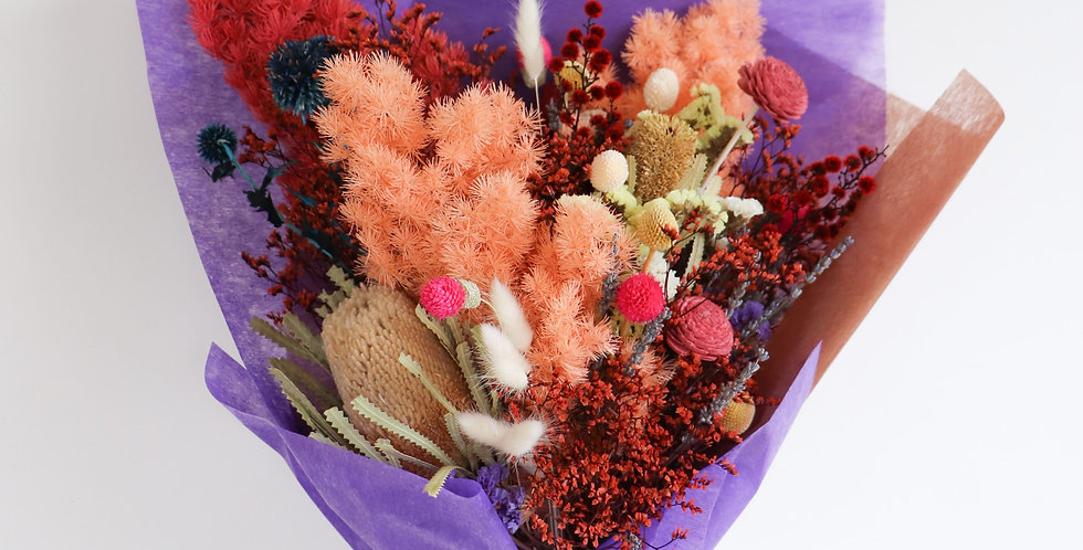 Large Rainbow Wrapped Floral Gift Arrangement