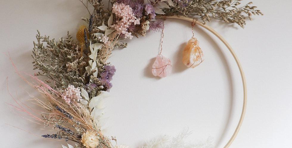 DIY Crystal Flower Hoop