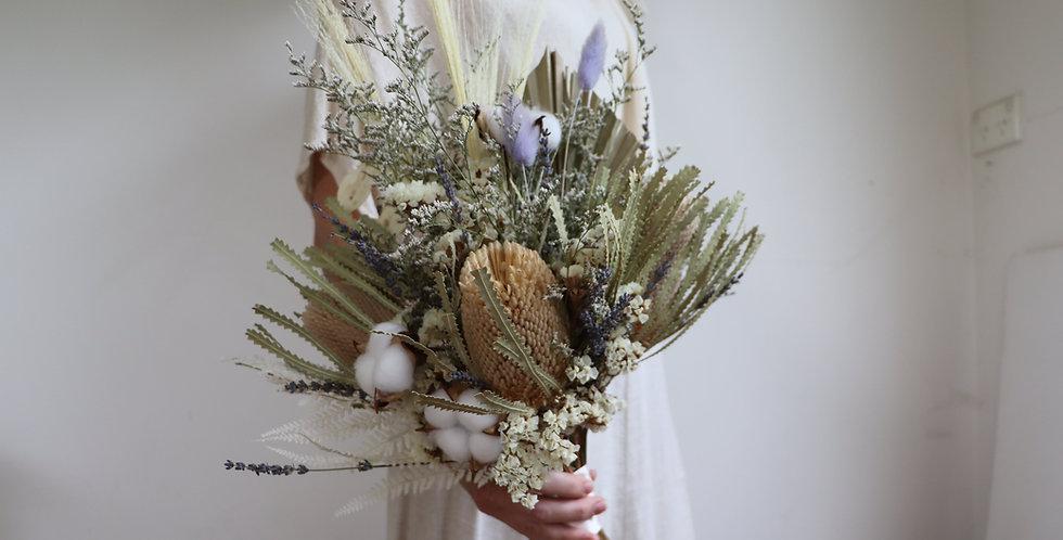Neutral Everlasting Wedding Bouquet