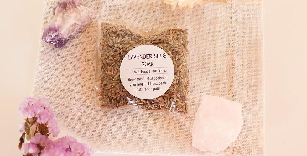 Lavender Sip & Soak