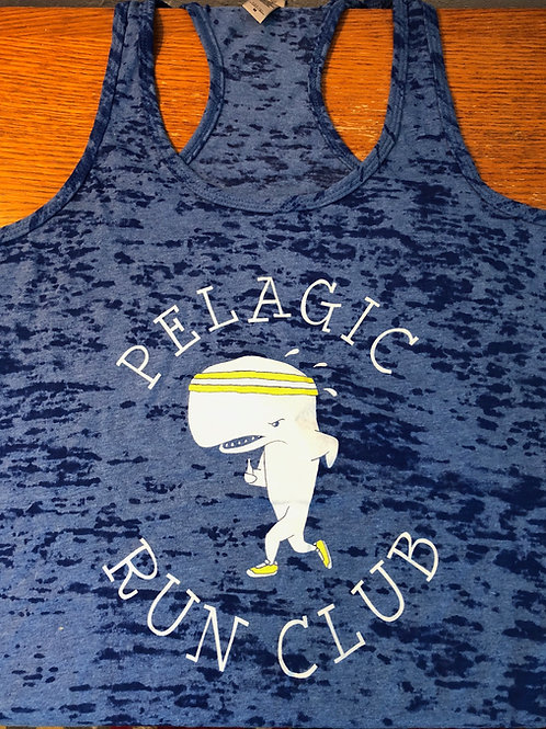 Run Club Burn-out Racerback Tank
