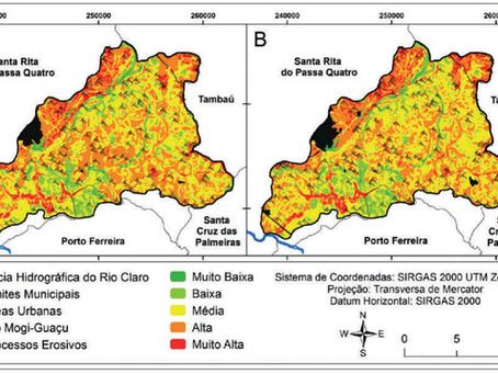 Fragilidade Ambiental à Erosão em uma Bacia Hidrográfica no Nordeste do Estado de São Paulo