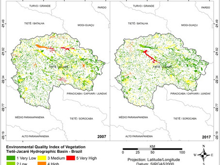 Environmental vulnerability index: An evaluation of the water and the vegetation quality in a Brazil