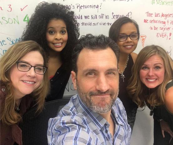 Hit the Floor all-female writers' room and our showrunner, James LaRosa