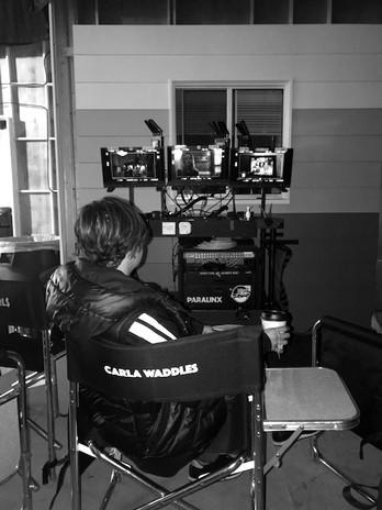 On set at Good Girls Season 3
