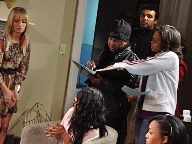 Behind the scenes on the One Love set