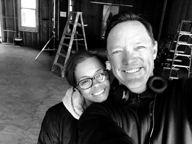 On set with Good Girls actor, Matthew Lillard   Photo Credit: Matthew Lillard