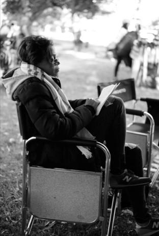 Behind the scenes preparing for the next shot on Good Girls  Photo Credit: Matthew Lillard